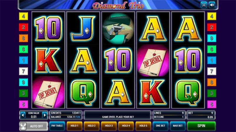 Изображение игрового автомата Diamond Trio 1