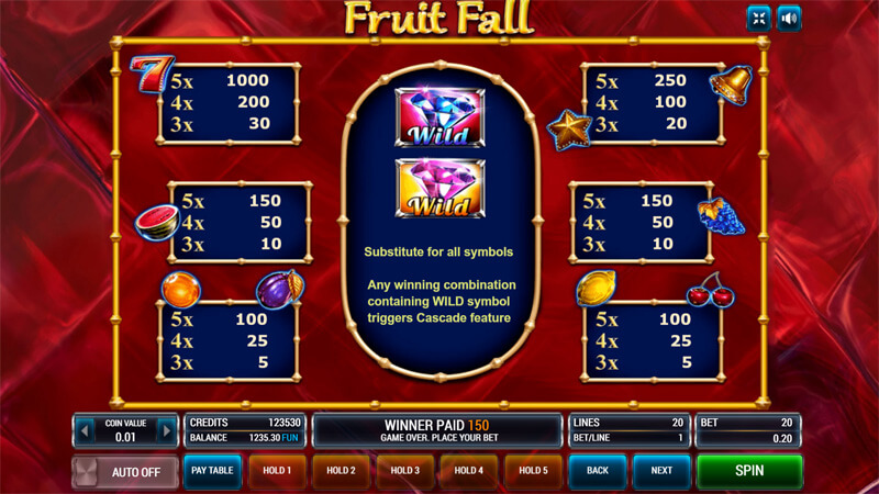 Изображение игрового автомата Fruit Fall 3