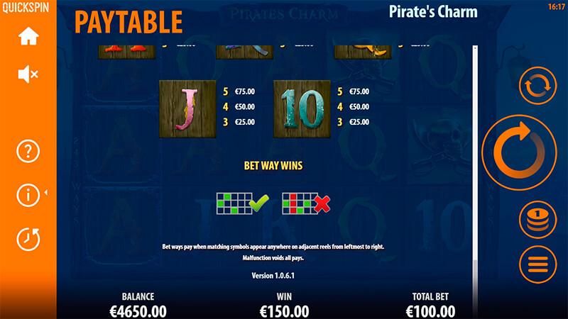 Изображение игрового автомата Pirate's Charm 3