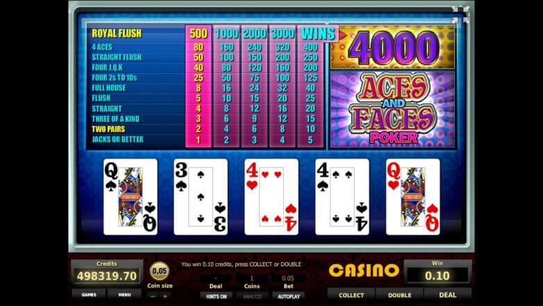 Изображение игрового автомата Aces and Faces Poker 3
