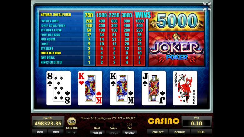 Изображение игрового автомата Joker Poker 2