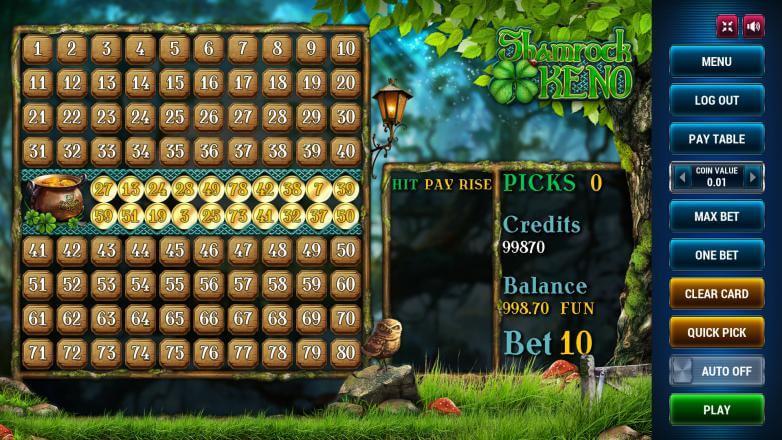 Изображение игрового автомата Keno Shamrock 1