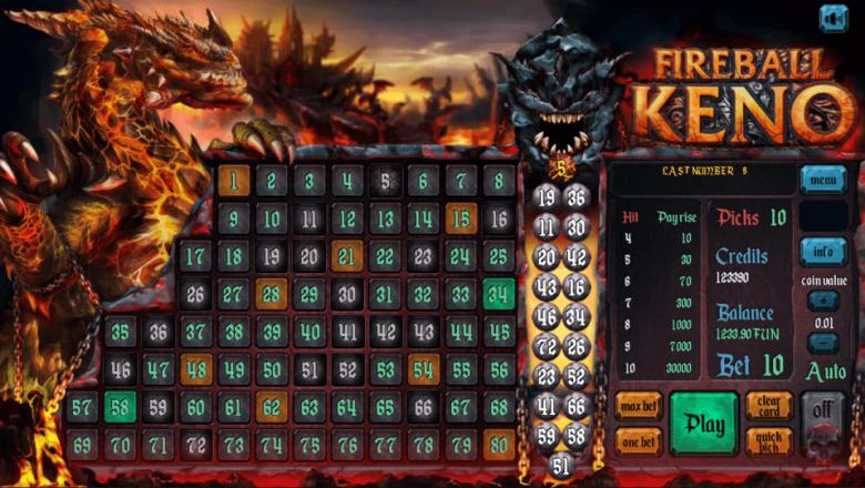 Изображение игрового автомата Keno FIREBALL 3